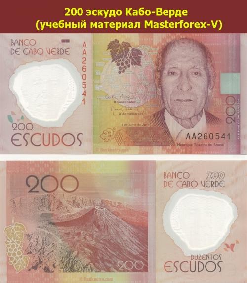 Банкнота в 200 эскудо Кабо-Верде