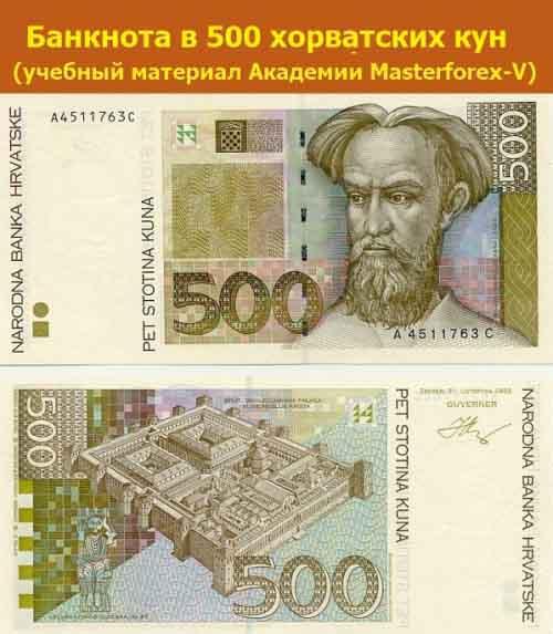 Банкнота 500 кун