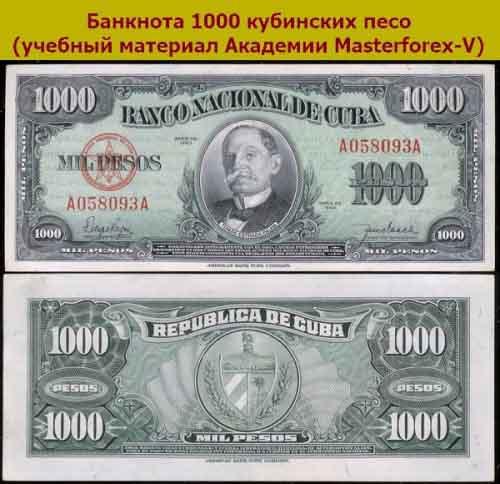 Банкнота 1000 песо