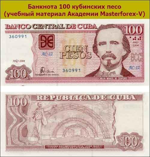 Банкнота 100 песо
