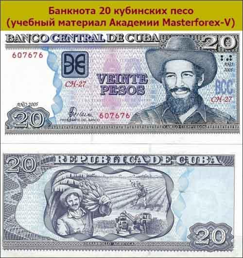 Банкнота 20 песо