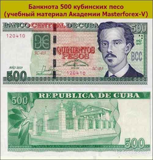 Банкнота 500 песо