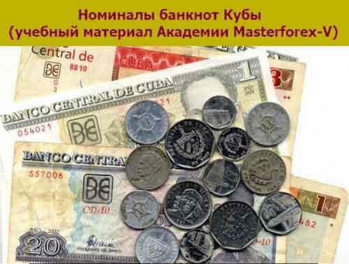 Номиналы банкнот Кубы