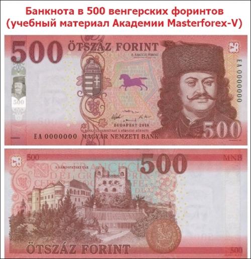 Банкнота в 500 венгерских форинтов