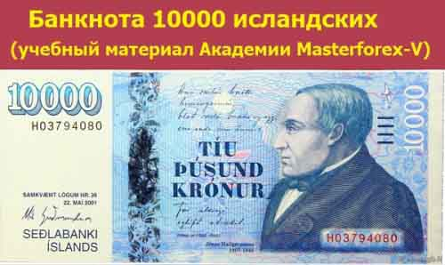 Банкнота 10000 крон