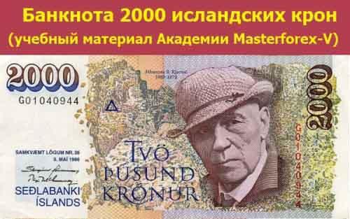 Купюра в 2000 крон