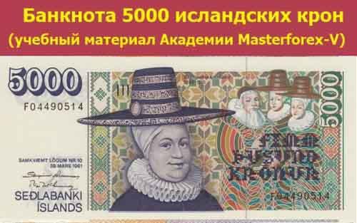 Купюра 5000 крон