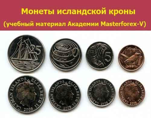 Монеты исландской кроны