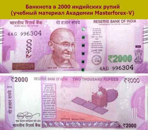 Банкнота 2000 рупий