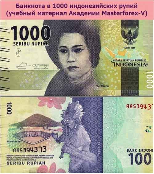 Банкнота в 1000 индонезийских рупий