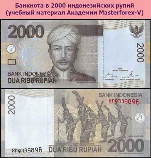 Банкнота в 2000 индонезийских рупий