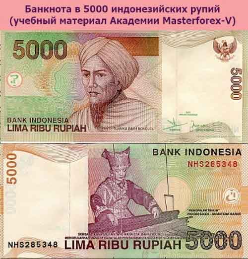 Банкнота в 5000 индонезийских рупий