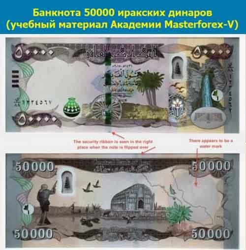 Купюра 50000 динаров