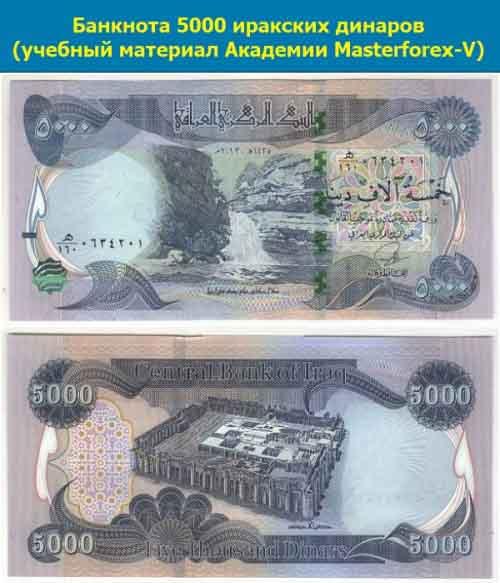 Банкнота 5000 динаров