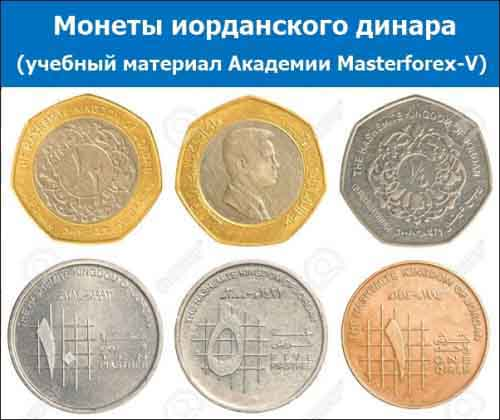 Монеты иорданского динара