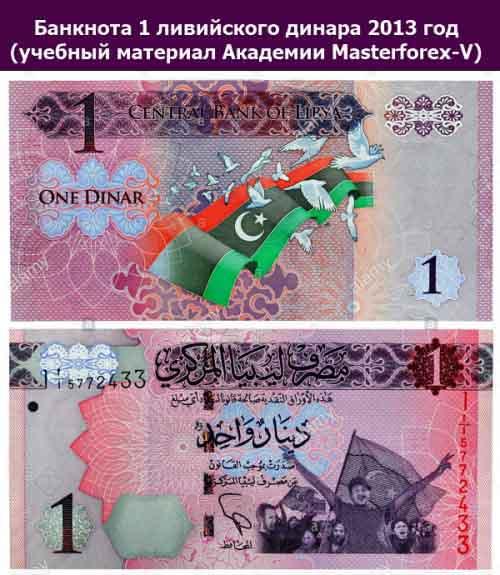 Банкнота в 1 динар 20013 года выпуска