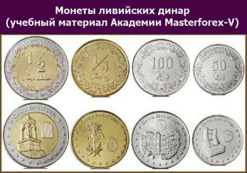 Монеты ливийского динара