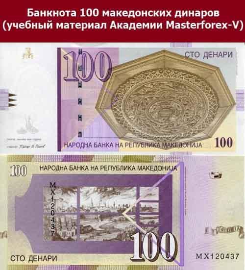 Купюра в 100 динаров