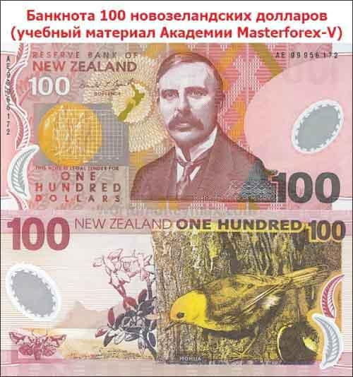 Купюра в 100 новозеландских долларов
