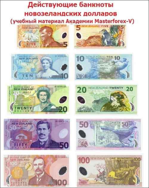 Номиналы банкнот Новой Зеландии