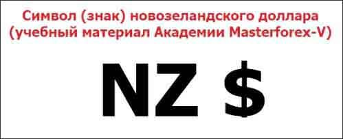 Символ (знак) новозеландского доллара