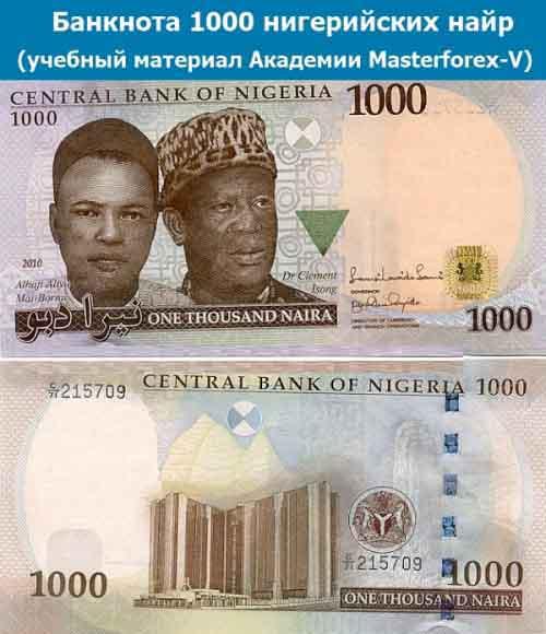 Банкнота 1000 нигерийских найр