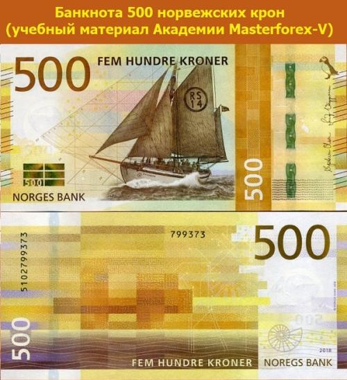 Купюра 500 крон