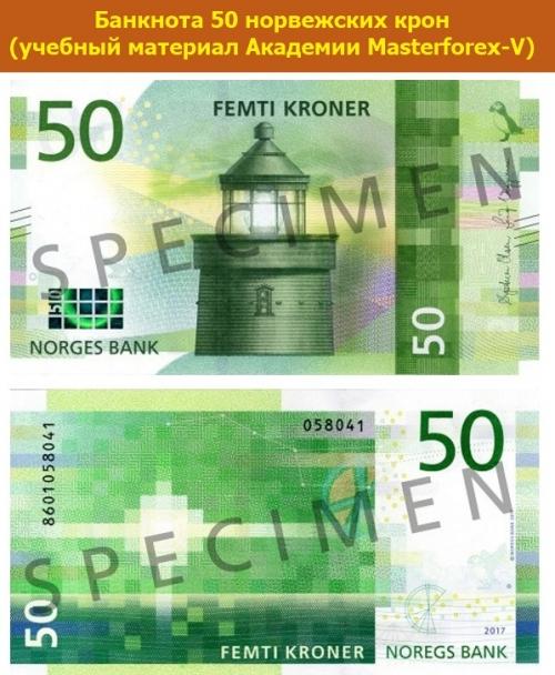 Банкнота в 50 норвежских крон