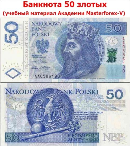 Банкнота 50 злотых