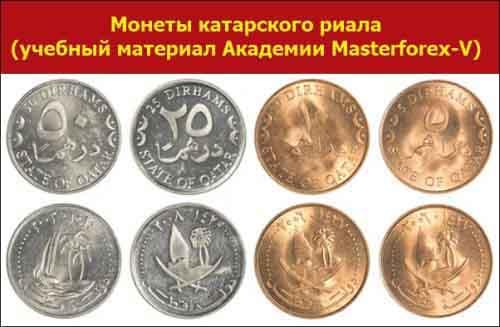 Монеты катарского риала