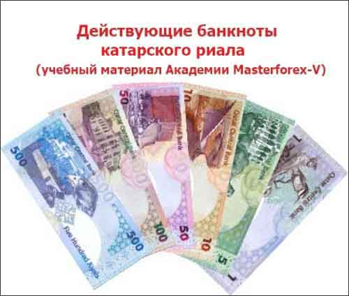 Номиналы банкнот Катара