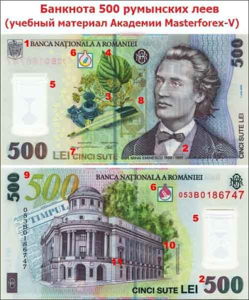 Банкнота 500 леев