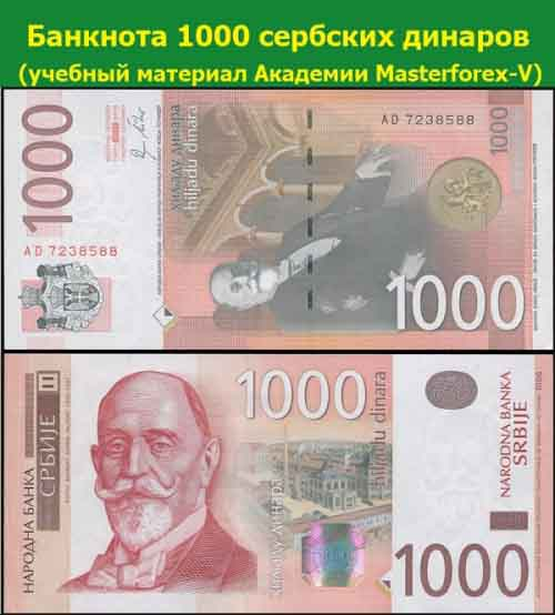 Банкнота 1000 сербских динаров