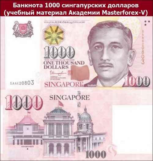Банкнота 1000 сингапурских долларов