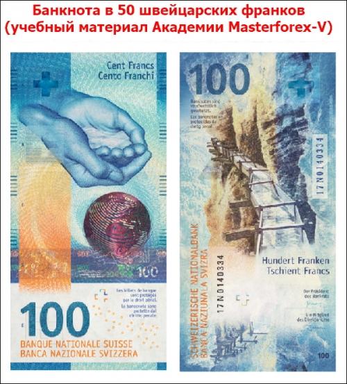 Банкнота 100 франков