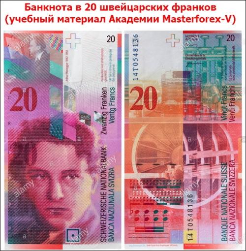 Банкнота 20 франков
