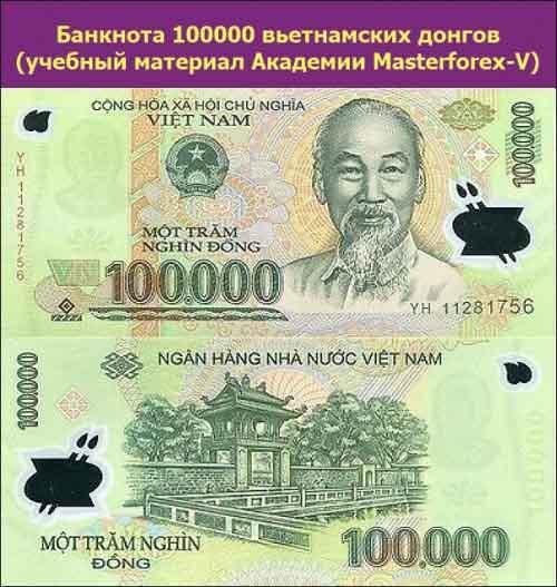 Банкнота 100000 донгов