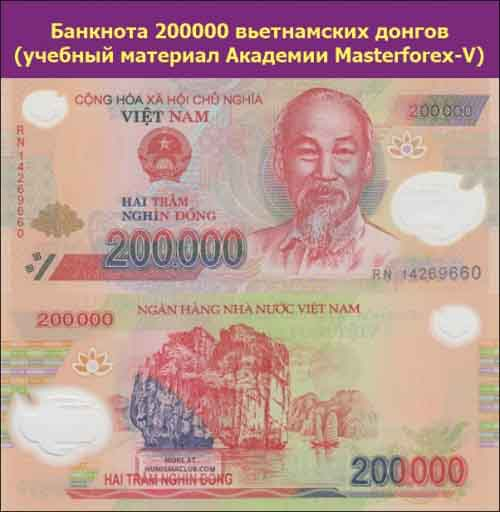 Банкнота 200000 донгов