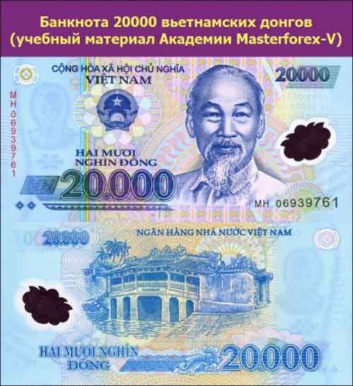 Банкнота 20000 донгов