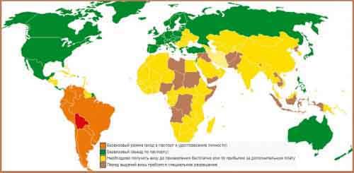 Визовая политика Боливии