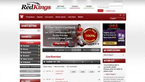 Игры и программное обеспечение букмекера BetRedKings