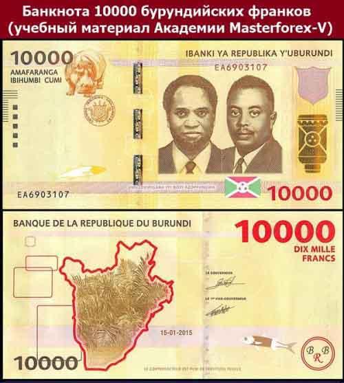 Банкнота в 10000 бурундийских франков