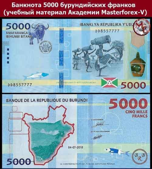 Купюра в 5000 бурундийских франков