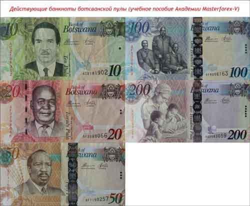 Банкноты ботсванской пулы