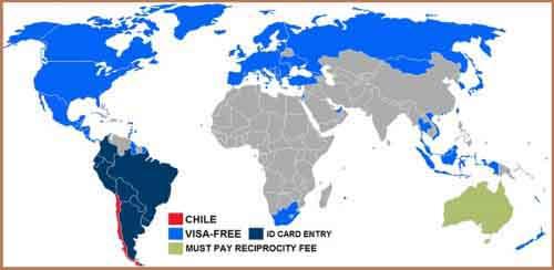 Визовая политика Чили