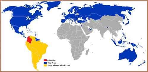 Визовый режим Колумбии