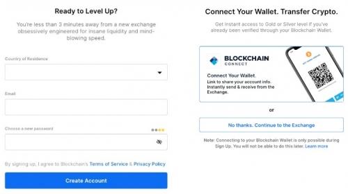 Регистрация на бирже Blockchain.com