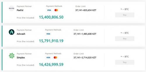 Торговля криптовалютой за казахстанские тенге