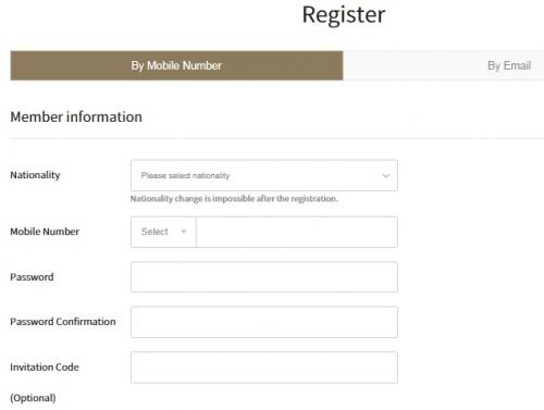 Регистрация на криптобирже Huobi Korea