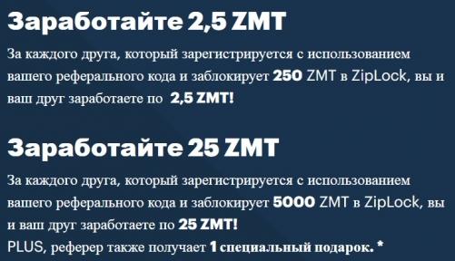 Условия реферальной программы на криптобирже Zipmex